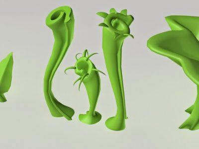 low poly Флора-2